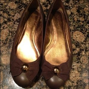 Authentic Coach Leather Flats
