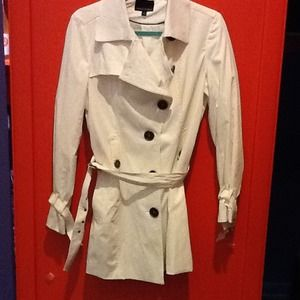 Cynthia Rowley Cream Trench Coat