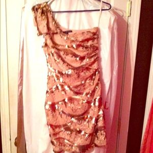 Sequined one shoulder dress