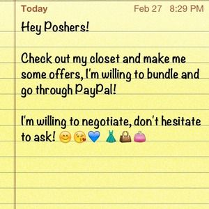 Check out my closet! Negotiate Paypal Bundle
