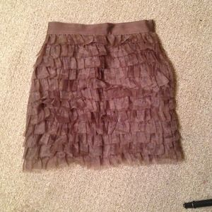 Mauve frilly skirt