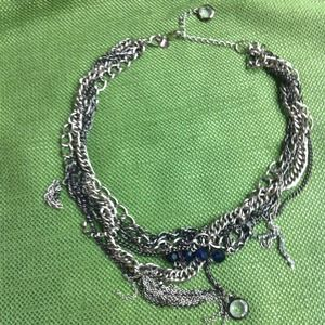Express silver chain necklace