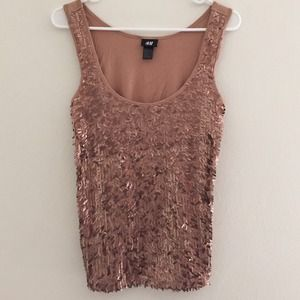 PM Editor share🎊H&M gold sparkly tank top