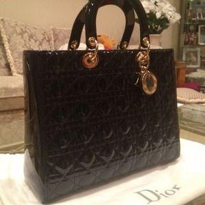0f3f1b51c09 Dior Bags   Brand New Lady Large Black With Silver Hw   Poshmark