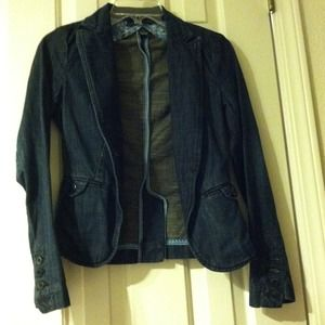 Lucky Brand Jackets & Blazers - Lucky Brand dark blue denim jacket.