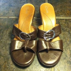 Clark's Brown Leather Sandals
