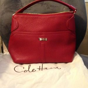 77cb42b06c Cole Haan Bags | Red Leather Purse Handbag | Poshmark