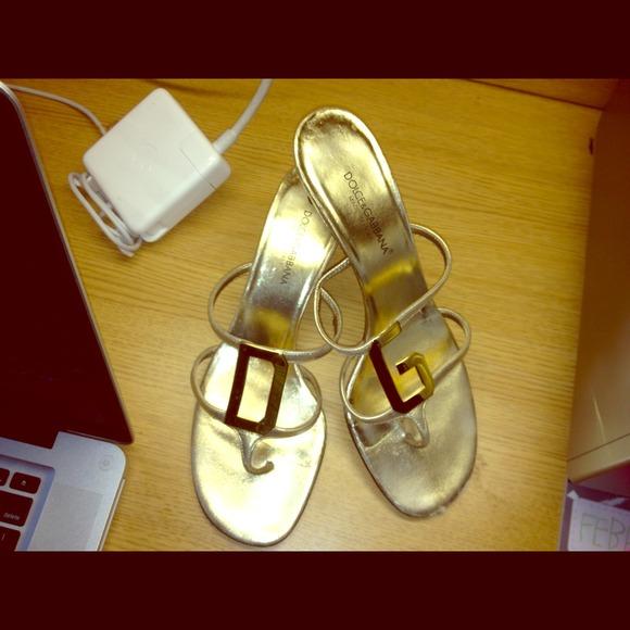 D\u0026G Shoes | Dolce Gabbana Gold Sandals