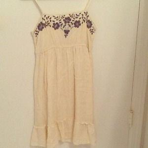 Boho Chic Cream Dress