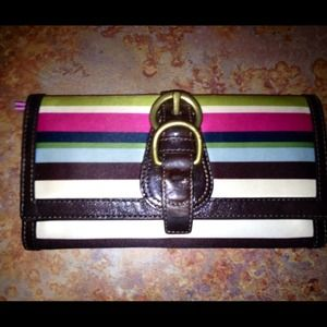 SALEAuthentic Legacy Stripe Coach Wallet