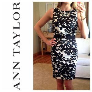 Ann Taylor Dresses & Skirts - Ann Taylor Waterspot Print Sheath Dress