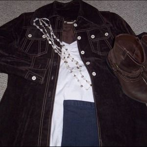 Awesome Vintage Sueded Jacket Shirt