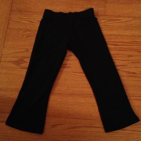 5cc2b15105b53 lululemon athletica Pants | Lululemon Black Slit Back Leg Capris ...