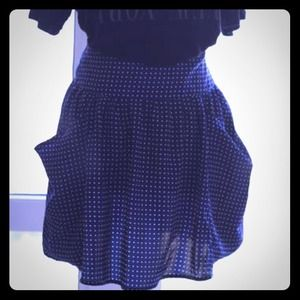 Urban Outfitters Navy Polka Dot Skirt