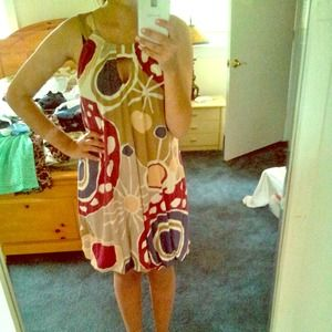 Colorful sleeveless laundry dress