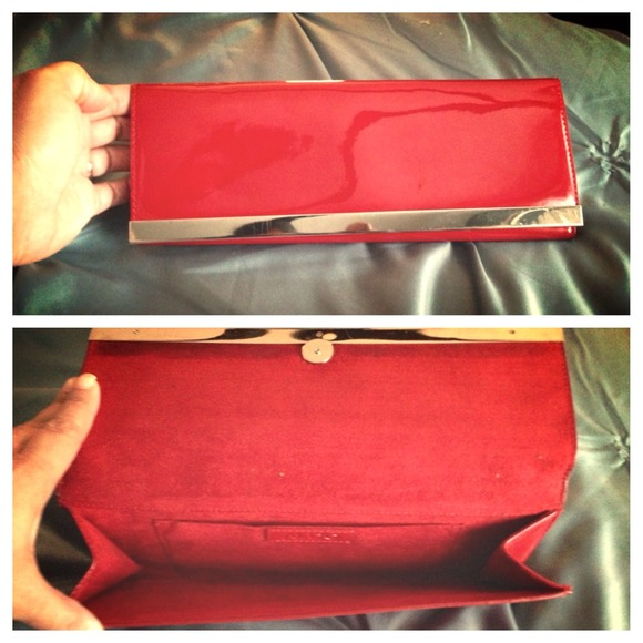 80% off ALDO Clutches & Wallets - Red patent leather ALDO envelope ...