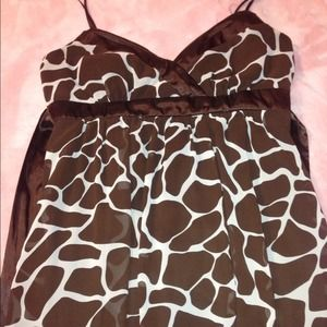 Dresses & Skirts - 📬SOLD📬 Giraffe print dress