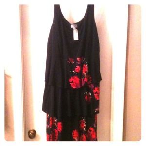 HOLD*****sell on ebay Plus size black & red dress