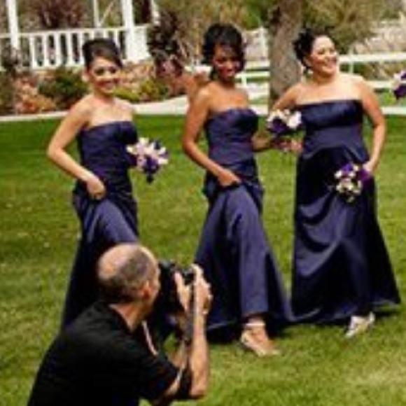 83% off David's Bridal Dresses & Skirts - Bridesmaid Dress Lapis ...