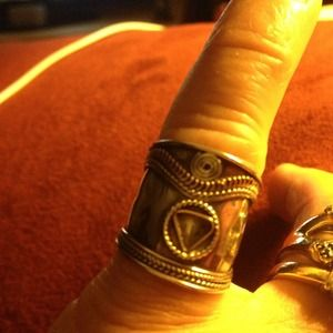 Hand crafted Silver and brass pinky ring