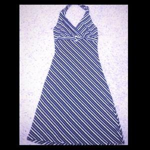 Dresses & Skirts - Sexy Black & White Halter Dress