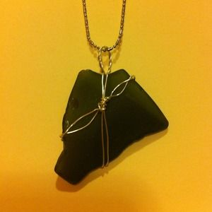 Necklace with Sea Glass Pendant