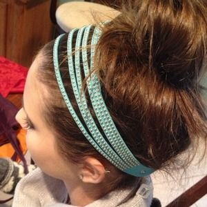 In Stock! Faux Suede Gold Studded Soft Headband