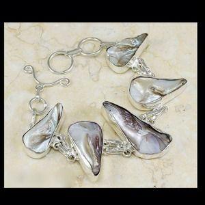 .925 Rare Charm Biwa Pearl SS bracelet - NWOT