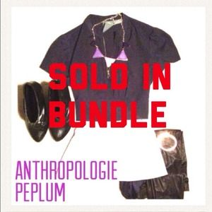 Anthropologie Tops - Amazing anthropologie zip peplum