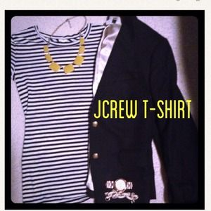 J. Crew Tops - Jcrew long nautical stripe tee