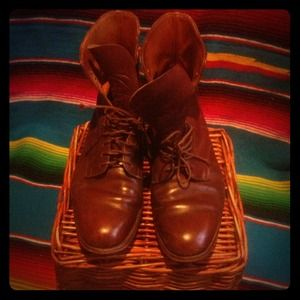 AMAZING boho vintage Marlborough leather boots!