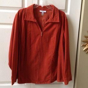 Courdoroy Front Zipper Jacket/Shirt