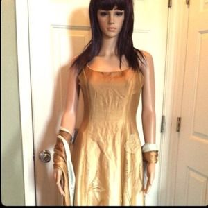 Dull Gold Gown