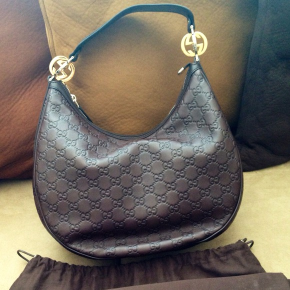 6% off Gucci Handbags - ❌Sold on EBay Gucci 'GG twins' brown ...