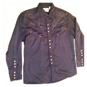 Scully Other - Rockabilly pearl snap retro western cowboy shirt