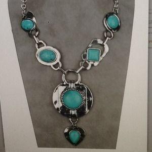 Tibetan sliver Turquoise necklace pendant