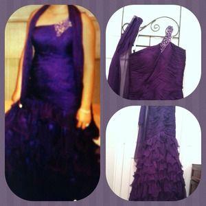 Dresses & Skirts - Purple Prom  dress .