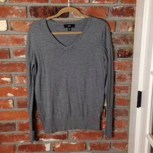 Tops - Grey v-neck sweater
