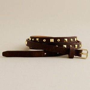 New J crew studded leather belt