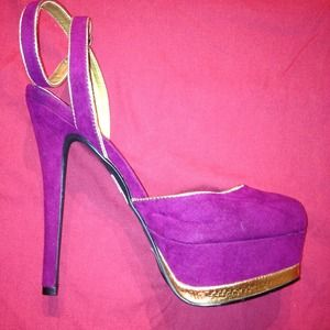 Charlotte Russe Shoes - Purple n Gold Platform Pumps