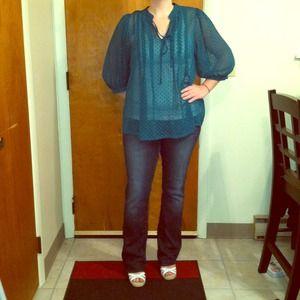 Sheer blouses