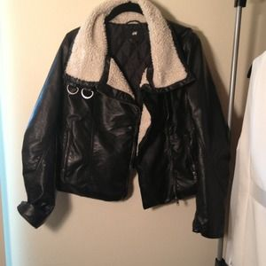 Burberry Inspired Shearling Embellished Jacket