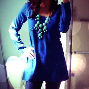 Tops - Silk BB Dakota blue tunic