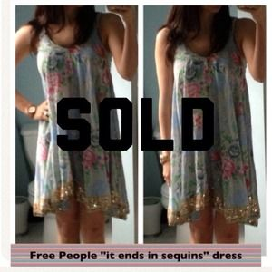 Free People Dresses & Skirts - SOLD Free People summer boho dress with sequins