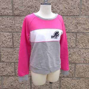 H&M 80's style Pink/Gray Sweatshirt
