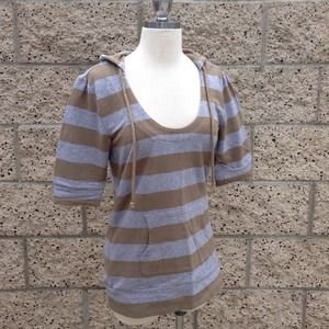 Gray/Olive Stripes Hoodie