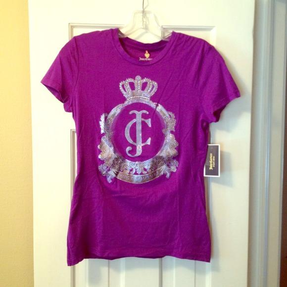 4487348ea1ab Juicy Couture purple t-shirt.