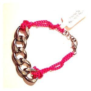 BaubleBar Day Glo Chain Bracelet- pink