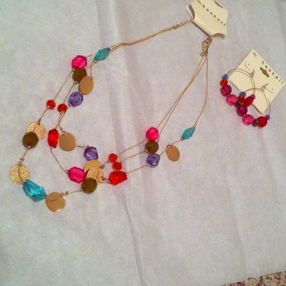 53 m haskell jewelry colorful necklace and