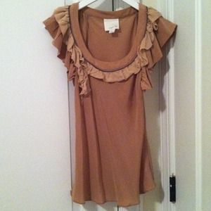 Aryn K ruffle blouse